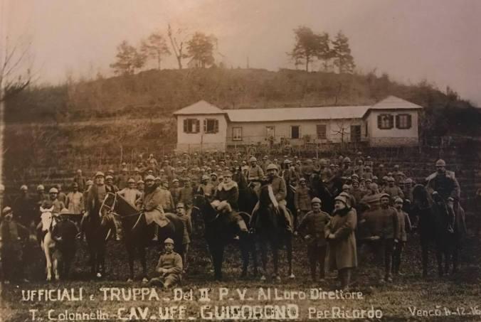 Foto scattata alle truppe di soldati Viguzzolesi durante la prima guerra mondiale