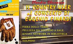Il Country User al concerto di Eugenio Finardi