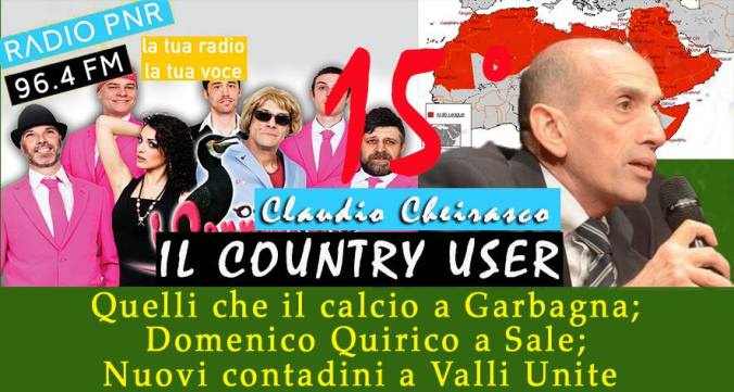 Copertina del Quindicesimo Country User su Radio PNR Tortona