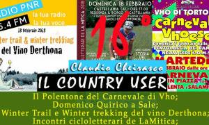Sedicesimo Country User – Carnevale sui colli tortonesi