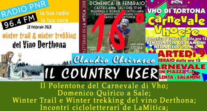 Il Cauntry User di Radio PNR Tortona, sedicesima puntata
