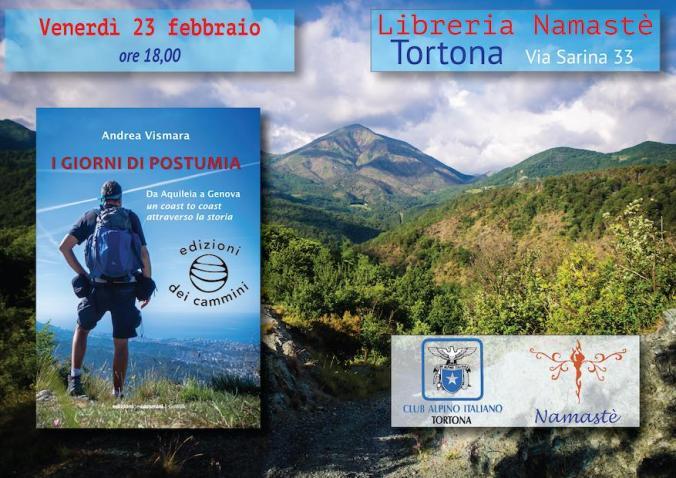 Presentazione della via Postumia di Andrea Vismara a Namastè Tortona