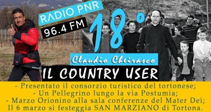 Diciottesima puntata de #IlCountryUser di Radio PNR Diocesi Tortona
