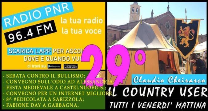 Claudio Cheirasco il Country User alla festa medievale di Castelnuovo Scrivia