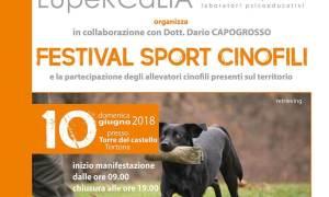 Anche Daniela Tusa al Festival degli Sport Cinofili del Parco del Castello