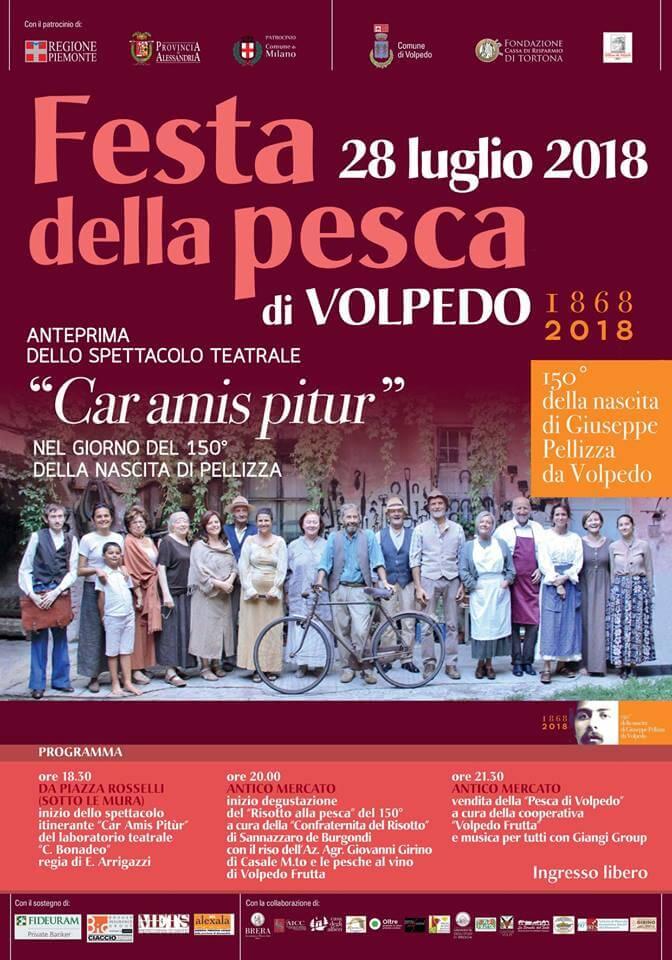Festa della pesca a Volpedo programma del 28-7-2018