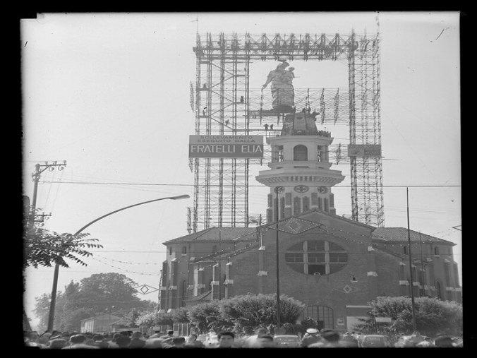 30 agosto 1958 - Statua del Santuario Madonna della Guardia di Tortona