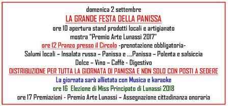 Principato di Lunassi festa della panissa ed elezione di Miss Lunassi
