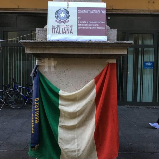 La Bandiera e la costituzione italiana a Tortona