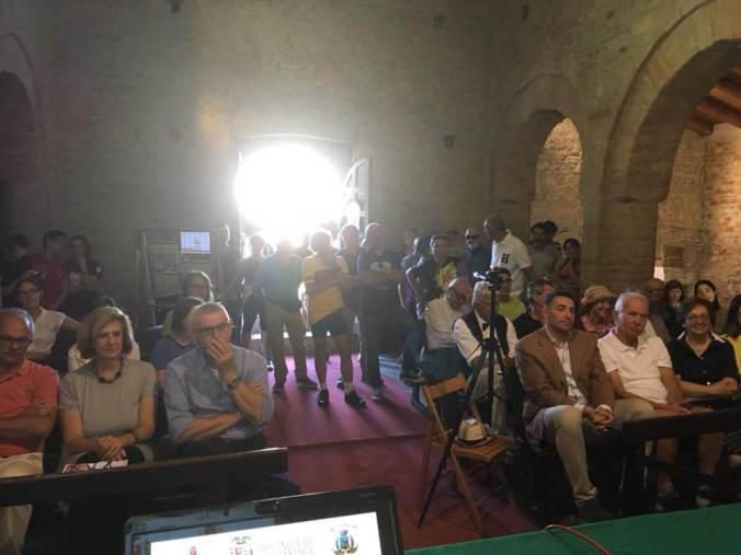 Il pubblico della Conferenza del 9 settembre 2018 alla Pieve romanica di Viguzzolo