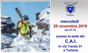 Al Cai di Tortona si parla di scialpinismo e skyrunning con Nadir Maguet