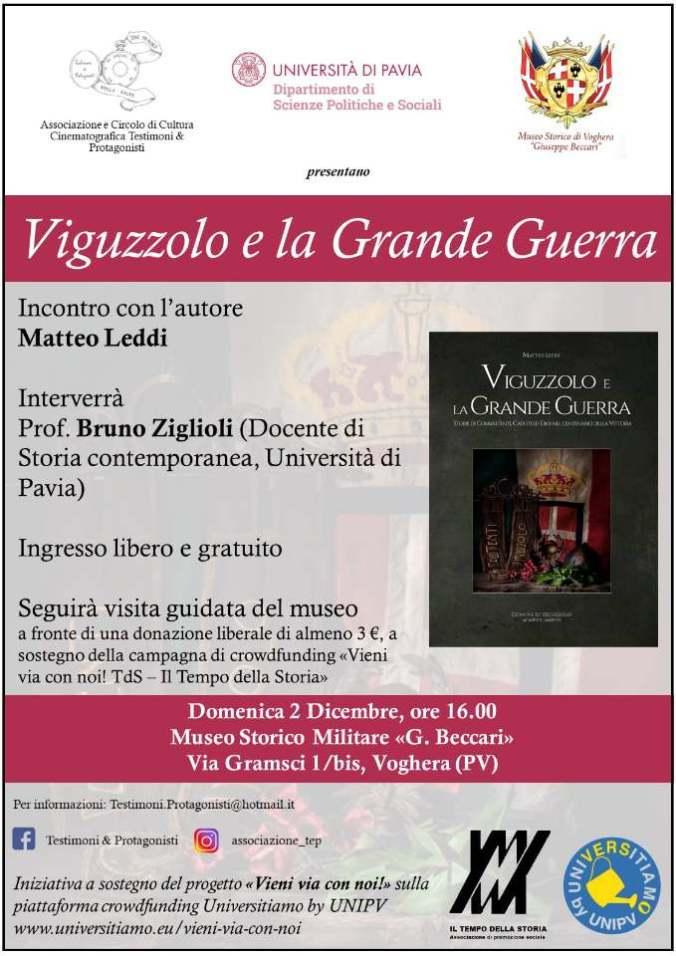 Presentazione del volume di Matteo Leddi a Voghera