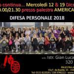 Più di cinquanta partecipanti al corso di difesa personale 2018