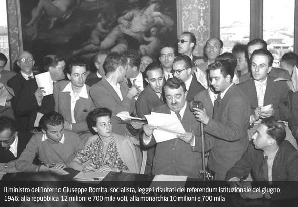 Il Tortonese Giuseppe romita a Roma il 2 giugno 1946