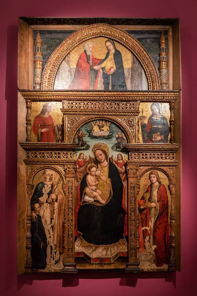 il Polittico di Boxilio ora esposto in Museo Diocesano, proveniente dall'Ospedale di Vigevano