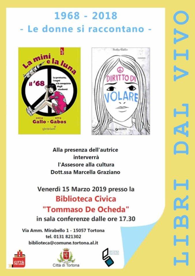Libri dal vivo 15 marzo 2019