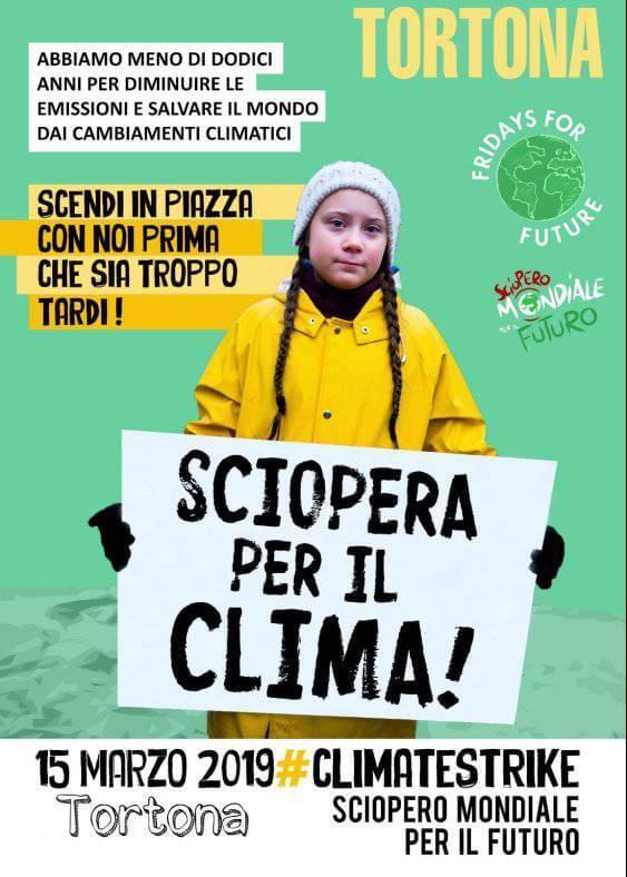 Fridays for future Tortona sciopera per il clima