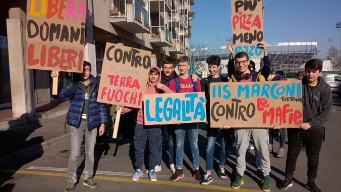 L'istituto marconi a Novara per la giornata contro le mafie