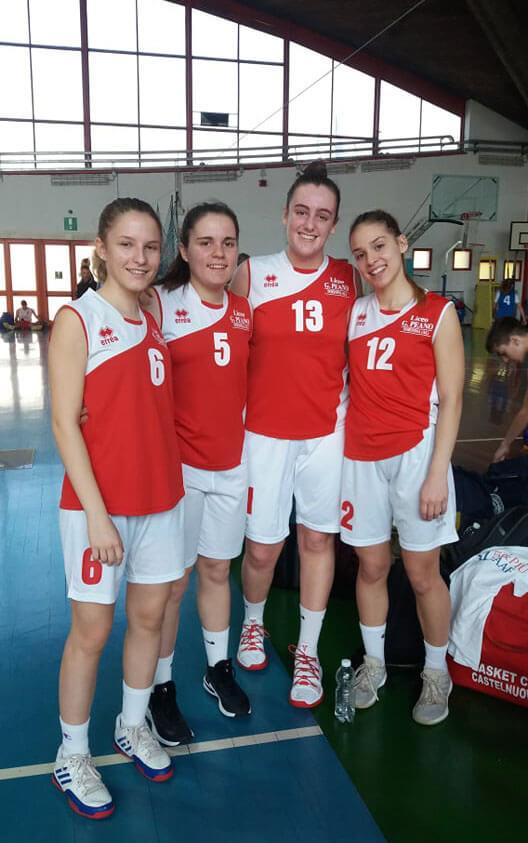 La squadra di Basket femminile del Liceo Peano