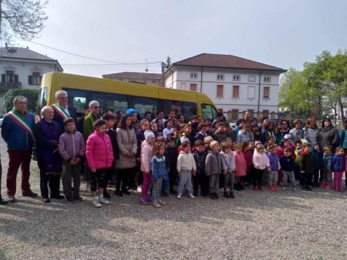 Inaugurazione scuolabus 2019 Sale