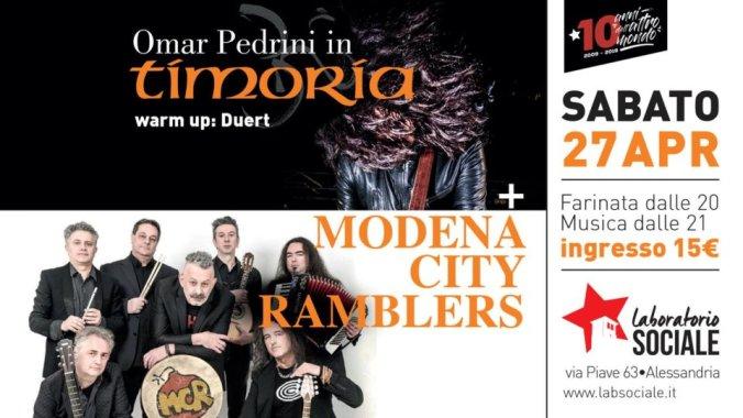 Teatro Sociale di Alessandria locandina Modena City Ramblers