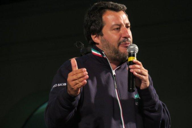 Il comizio elettorale di Salvini a Tortona