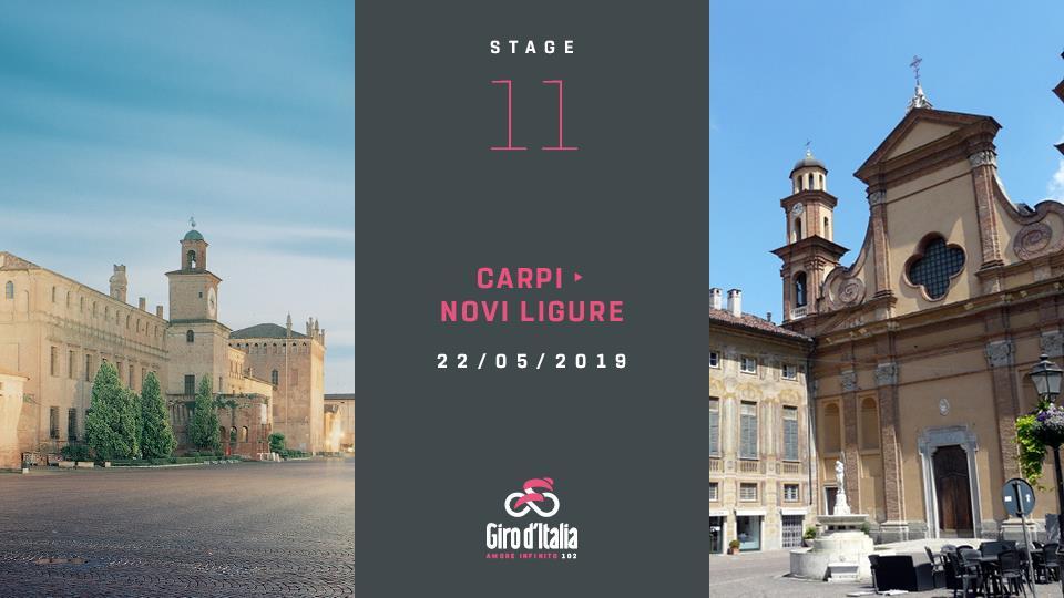 Novi Ligure - Indicazioni ed Eventi per vivere al meglio l'arrivo del Giro d'Italia del 22 maggio 2019