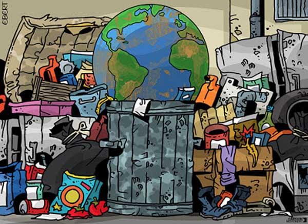 Il pianeta terra in discarica