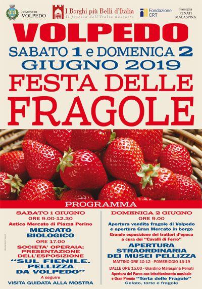 programma festa delle fragole 2019 a Volpedo