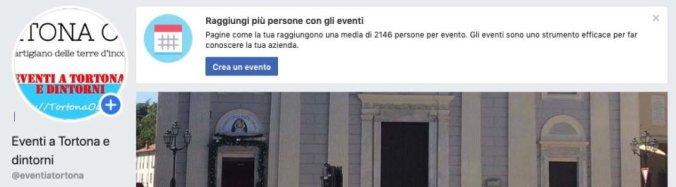 Promuovi il tuo evento facebook con Eventi a Tortona e dintorni