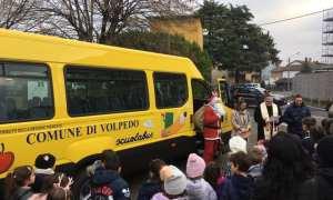 A Volpedo è arrivato il nuovo scuolabus, è stato inaugurato questa mattina