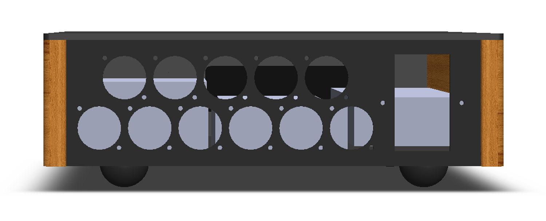 LDR3000x.V3 rear XLR - 3D CAD