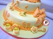 tort botez portocaliu 35