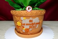 tort lacramioare ghiveci 2_Lily of the valley pot cake
