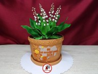 tort lacramioare ghiveci 3_Lily of the valley pot cake