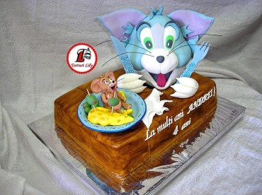 tort tom si jerry farfurie 70