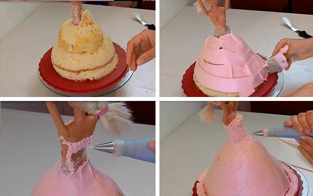 Как приготовить торт барби пошагово фото