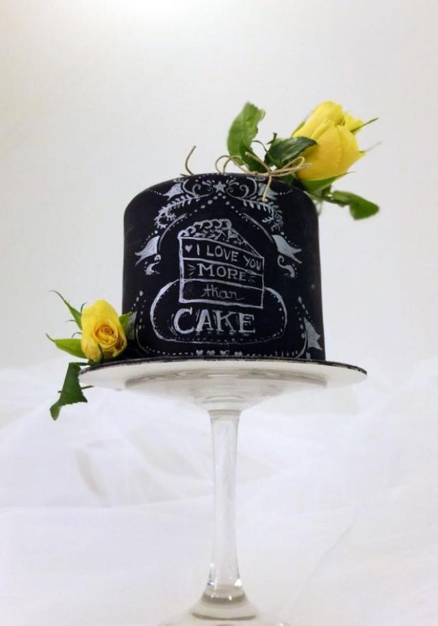 Chalkboard cake; Autor: Janockas