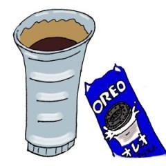 コーヒーとオレオ