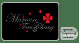 maroon TORU CHANG_ロゴデザイン,ブランドマーク,キャラクター,オシャレ,かわいい,かっこいい,品がある,デザイン,Logo,Mark,toru chang