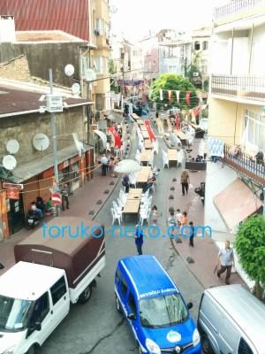 トルコ猫歩き イスタンブール ベイオールで ラマダン ラマザン期間中のイベントの写真 画像