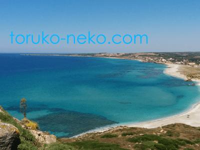 sardinia イタリア サルディニア島の白い砂浜と青い海 綺麗な風景トルコ イスタンブール 猫歩き 写真 画像