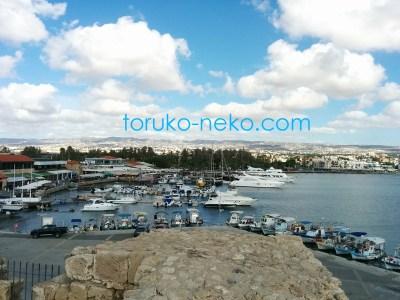 キプロス島 パフォス城からの眺め 景色の写真 画像