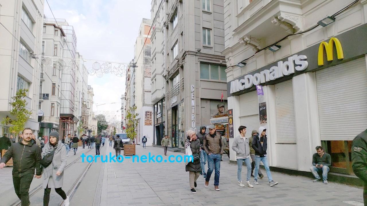 コロナウイルス感染症トルコ イスタンブール イスティクラル通り 閑散 画像 写真 感染者