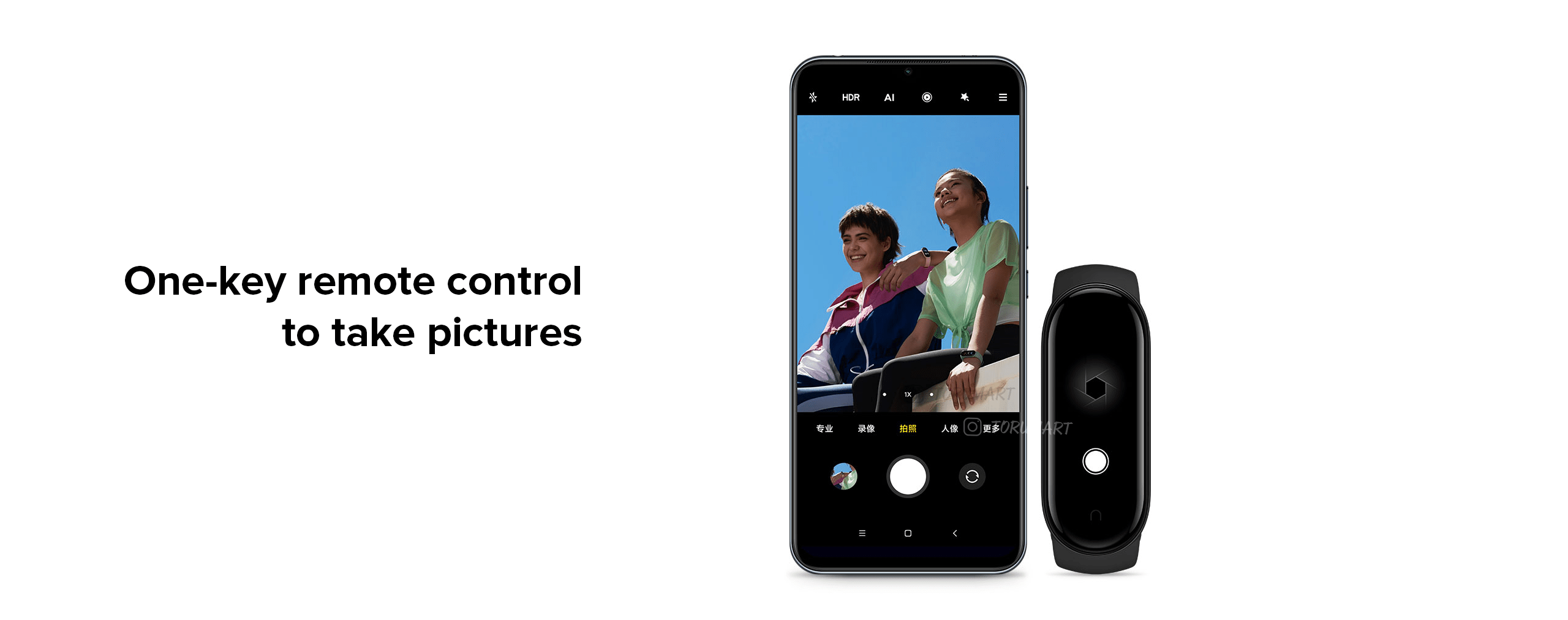 One-key remote controlto take pictures