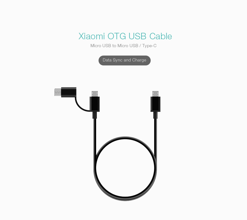 Xiaomi OTG USB Cable (Micro USB to Micro USB/Type-C