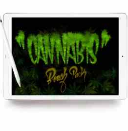 Cannabis Brush Pack Procreate