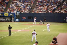 Morneau at bat.