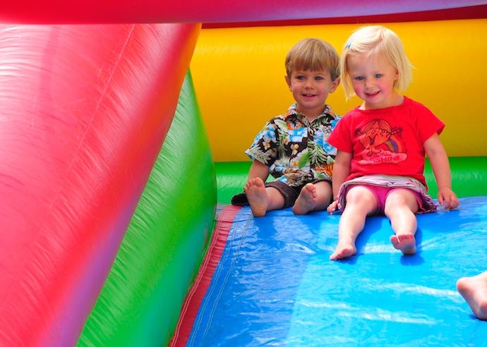 Piper and Tory on the big slide (click the image for more)