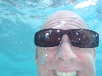 Josh underwater.